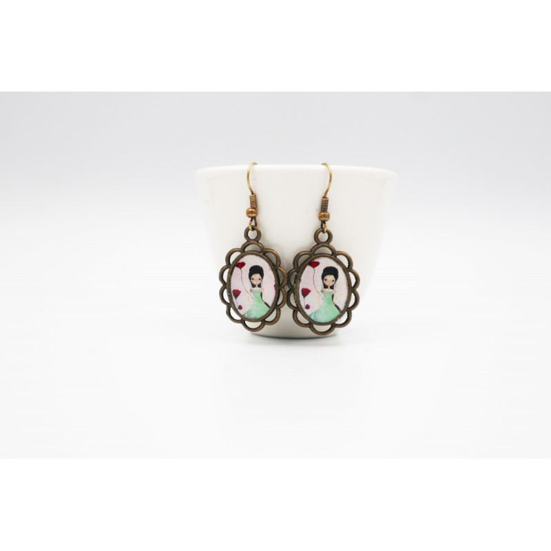"""candy kingdom ""  Large cosmetic bag"