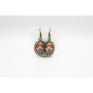 """Snow white ""   cosmetic bag"