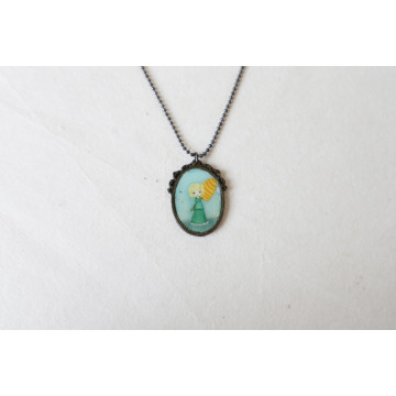 The White Swan- boho chic earrings
