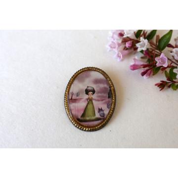 Snow white- boho chic earrings